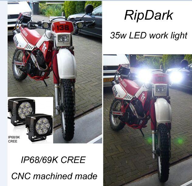 sıcak tarzı motosiklet parçaları led ışıkları yüksek aydınlatma motosiklet cree sürüş ışık led