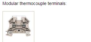 Modular thermocouple terminals