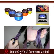 2015 new arrival temporary hair dying chalk with teeth/hair coloring comb/cream form hair coloring tools