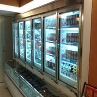 Used commercial refrigerators/deep freezer glass door for sale/refrigerator parts