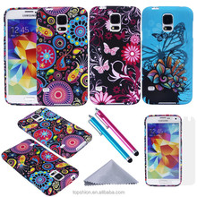 wholesale for samsung galaxy s5 mobile phone cover case back housing protective cases with stylus pen+screen protector