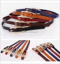 Cheap 5 colours aviable women cow hide Leather Belts,double side pure leather belts, Genuine Leather Belts