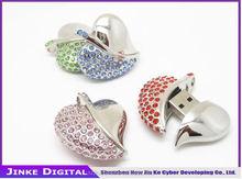 Jewelry Crystal Heart Model USB 2.0 Flash Drive Memory Stick Thumb Pen 4GB-32GB
