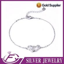 Europe popular style 925 sterling silver charming shamballa bracelet