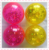 plastic toy box for bouncing ball with glitter promotion gifts