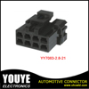 8 pin 2.8 mm pitch black color female electrical wire connectors