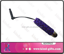 Wholesale rhinestone crystal touch pen for ipad