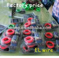 2014 Hot sale 3m long Flexible EL Neon Wire 11 colors available