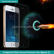 wholesale cell phone accessory tempered glass screen protector for Iphone 5/5c/5s