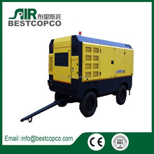 China supplier mobile diesel or electrical air screw compressor