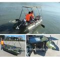 2015 Made in China PVC casco velocidade do barco barco inflável com Motor de popa