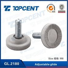 Furniture chair fittings, furniture glide, metal nail with screw