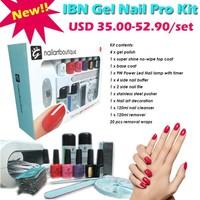 2015 private label IBN UV LED home starter kit/gel nail kit/OEM gel nail polish kit