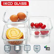 Snacks And Fruit Keep Fresh Box Korean Glass Lunch Box Airtight Glass Food Container For Microwave