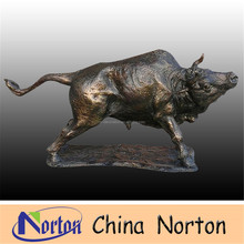 Arts and crafts cast bronze bull sculpture NTBH-B064R