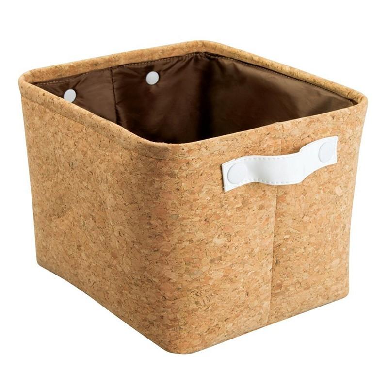 Natural Cork Fabric Storage Bin (2).jpg