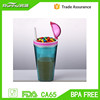 Fashion New Launched Food m&m's Storage cup with straw RH107-16