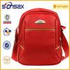 cool red student shoulder bag for adults waterproof messenger bag