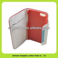 13113 Highe quality wallet card holder Leather Case For Apple iPhone5 New iPhone