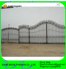 Popular Ornamental Simple Wrought Iron Model Metal Gates