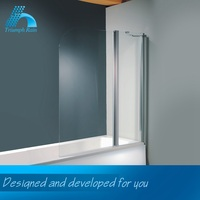 Top Quality Advantage Price Curved Glass Shower Screen