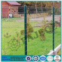 Green Beautiful Grid Recycling PVC Coated 1x1 Wire Mesh Fencing