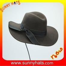 Wholeslae Fashion Ladies Best Quality Best Price 100% Wool Felt Green Floppy Hat Decorate Bowknot Ribbon