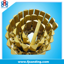 high lubrication excavator chain track system