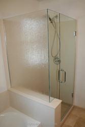 make in China bathroom tempered glass door