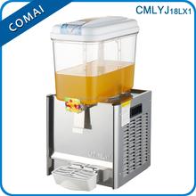 2015 popular orange single tank glass beverage dispenser, cold beverage dispenser