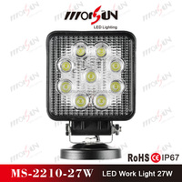 12v/24v DC 27W flood led drive over lights, IP-67 waterproof LED offroad lighting (MS-2210-27W)