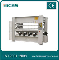 China's high quality chip board production line/hot press machine
