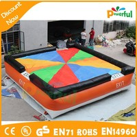 2015 high quality crazy and safe big air bag,inflatable jump air bag for skilling