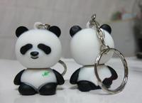 Rubber Cute Panda Shape USB Key With Customized Logo