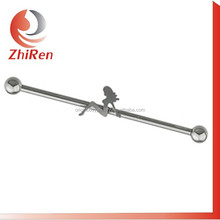 Hot selling stainless steel industrial piercing tongue piercing with logo