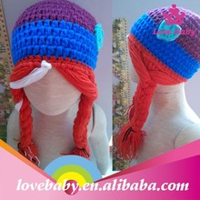 Wholesale Lovebaby handmade knitted hats with braids LBP4120301