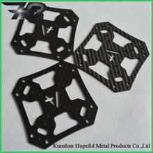 Cnc lavorazioni custom foglio fibra di carbonio, piastra in fibra di carbonio