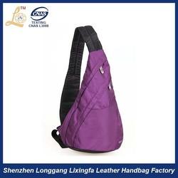 Hot sale polyester triangle bag /triangle shoulder bag /triangle sling bag