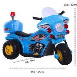 6V 3 wheel Police motorcycle for children/Battery Power Plastic Kids Police Motorcycle