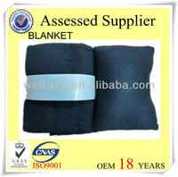 100% polyester polar fleece blanket pillow and blanket