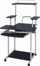 mobile steel wood computer desk and wardrobe,Black(DX-999)