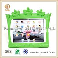 Crown design kickstand shockproof EVA tablet cover for children