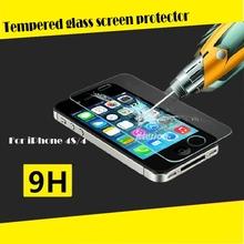 Nuovo arrivo! Al 100% in forma per il iphone 4s piena copertura in vetro temperato protezione dello schermo benvenuto oem/ODM