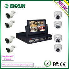 Hot Sell!!! Super MINI H.264 cctv 4ch dvr kit with 7inch LCD