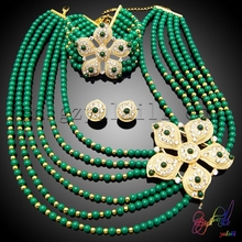High end crystal jewelry sets charming dark green jewelry sets Mexico costume jewelry sets