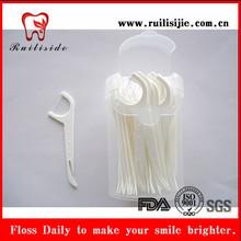 plastic box packed UHMWPE 400D three functions dental floss picks