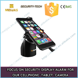 mobile phone charger holder with anti-theft alarm