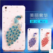 Peacock Diamond Decorated DIY Case for HTC Desire816