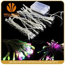 Cheap Super Bright Multicolored strobe light string for holiday party wedding decoration