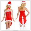 2015 New Designs Women Girl Sexy Clubwear Red Christmas Costume Dress
